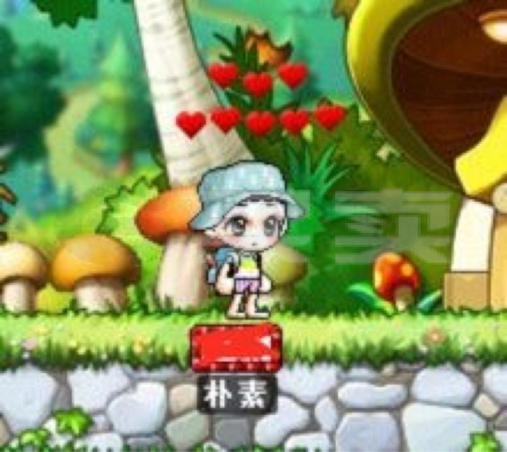 [ 战士 11级]冒险岛蓝蜗牛满心可乐白可乐帽男花瓶号
